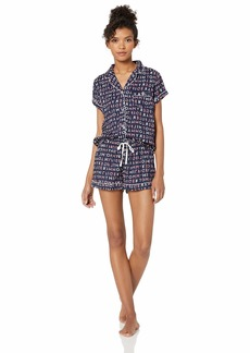Tommy Hilfiger Women's Rayon Girlfriend Notch Collar Pajama Set Pj