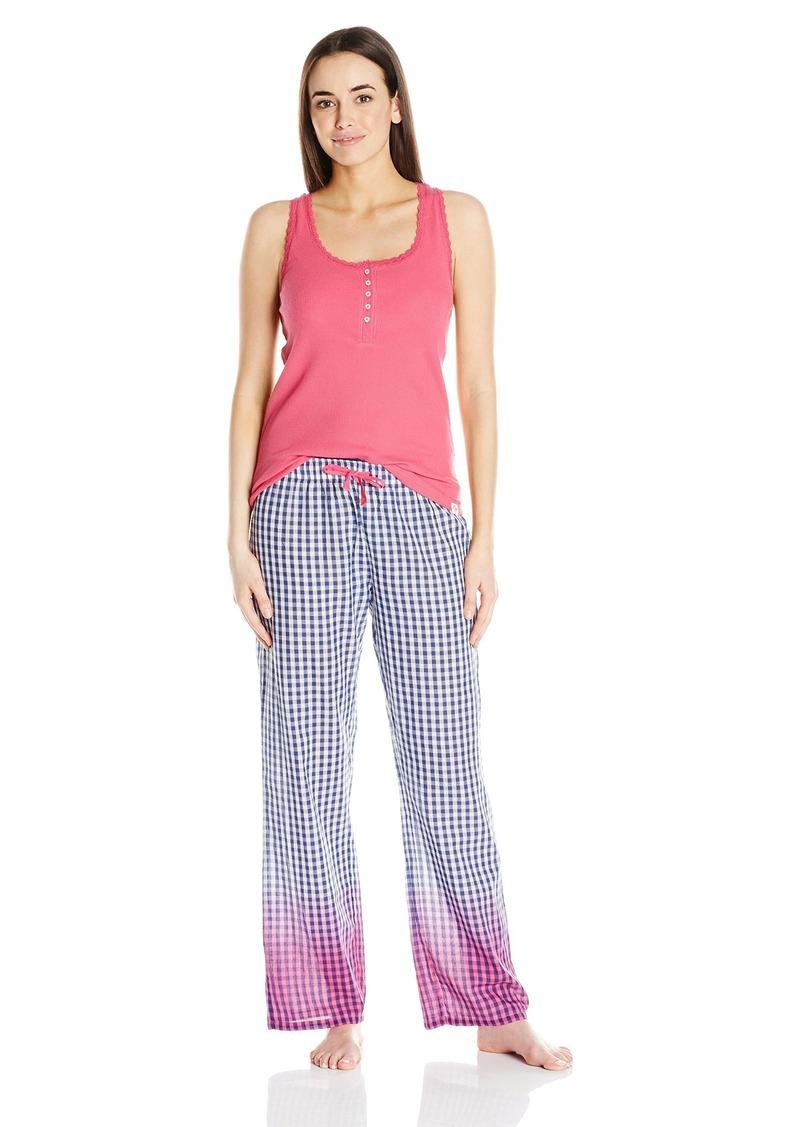 Tommy Hilfiger Women's Tank Shirt and Pant Bottom Pajama PJ Set