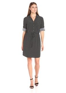 Tommy Hilfiger Women's Ring Dot Mj Shirt Dress