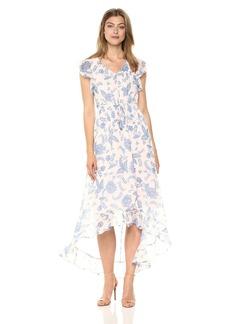 Tommy Hilfiger Women's Rivera Floral Chiffon High Low Dress
