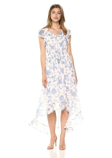 Tommy Hilfiger Women's Rivera Floral Chiffon High Low Dress
