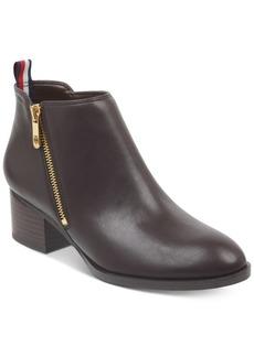 Tommy Hilfiger Women's Ruthee Block-Heel Ankle Booties Women's Shoes