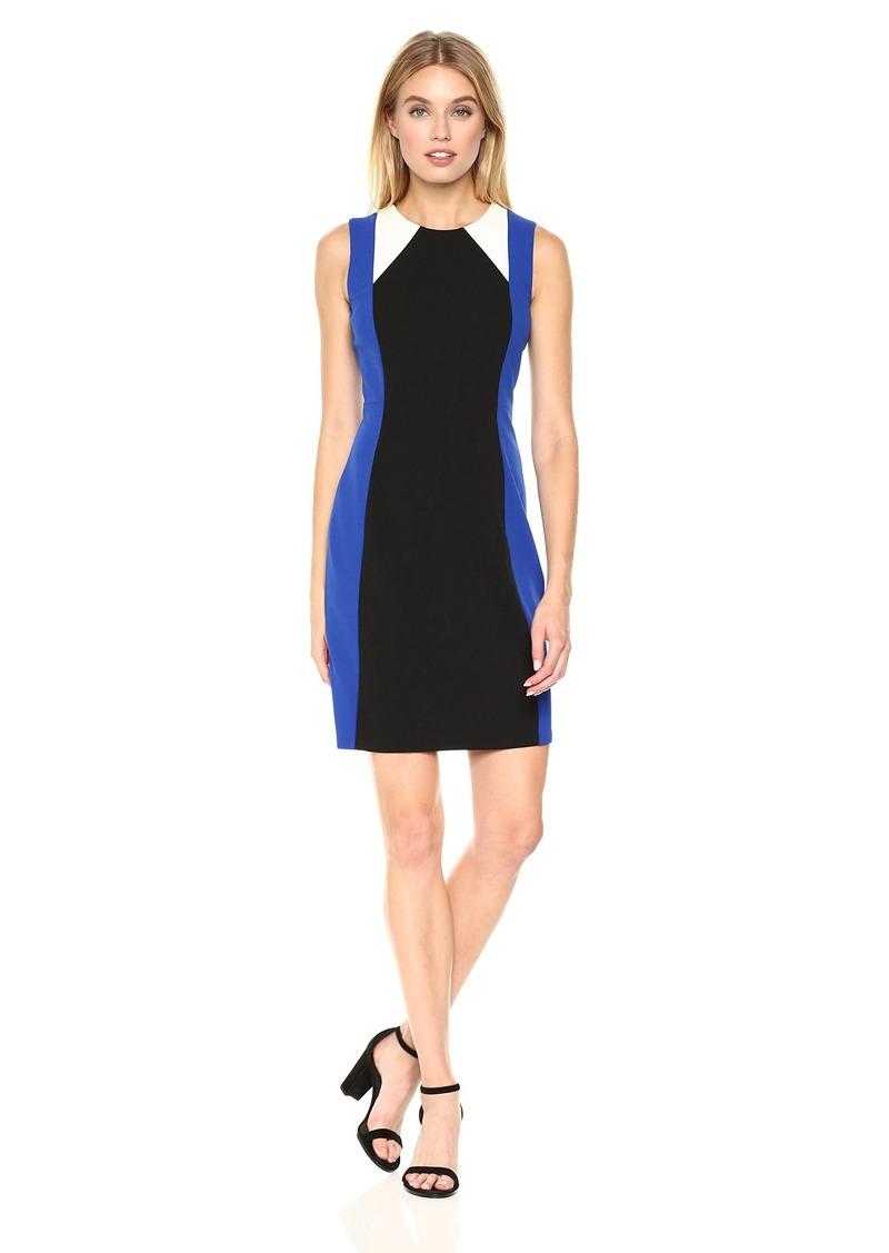 71e6f8ebd08 Tommy Hilfiger Tommy Hilfiger Women s Scuba Crepe 3 Way Colorblock Dress