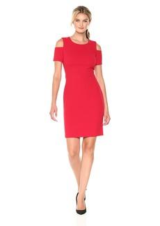 Tommy Hilfiger Women's Scuba Crepe Cold Shoulder Dress