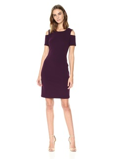 Tommy Hilfiger Women's Scuba Crepe Cold Shoulder Dress
