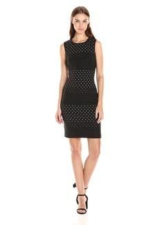 Tommy Hilfiger Women's Scuba Crepe Dress W. Hot Fix