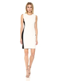 Tommy Hilfiger Women's Scuba Crepe Dress with Side Gathering