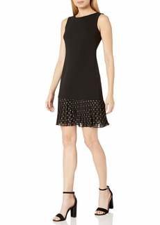 Tommy Hilfiger Women's Scuba Crepe Pleated Skirt