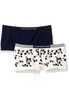Tommy Hilfiger Women's Seamless Modern Boy Short Panty 2-Pack
