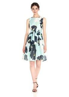 Tommy Hilfiger Women's Sheer Stripe Sleeveless Dress