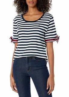 Tommy Hilfiger Women's Short Sleeve Scoop Neck Top