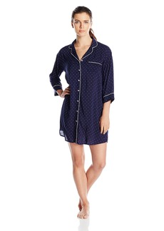 Tommy Hilfiger Women's Short Sleeve Sleep Dress