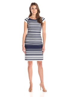 Tommy Hilfiger Women's Short Sleeve Striped Dress