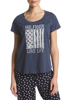 Tommy Hilfiger Women's Short Sleeve T-Shirt Pajama Top Pj