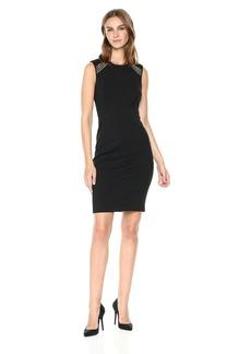 Tommy Hilfiger Women's Shoulder Embellished Ponte Dress