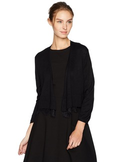 Tommy Hilfiger Women's Shrug with Lace Hem  S
