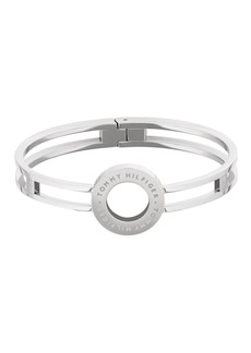 Tommy Hilfiger Women's Silver-Tone Stainless Steel Bangle