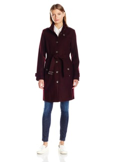 Tommy Hilfiger Women's Single Breasted Wool Trench Coat  L