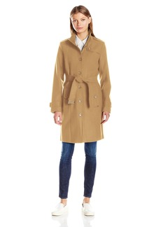 Tommy Hilfiger Women's Single Breasted Wool Trench Coat  XS