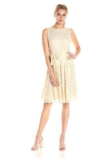 Tommy Hilfiger Women's Sleeveless Foil Lace Dress