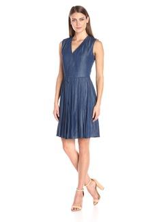 Tommy Hilfiger Women's Sleeveless Pleated Denim Dress