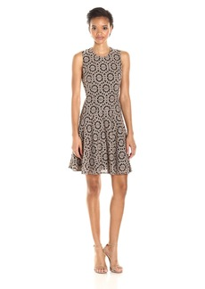 Tommy Hilfiger Women's Sleeveless Rosette Lace Dress
