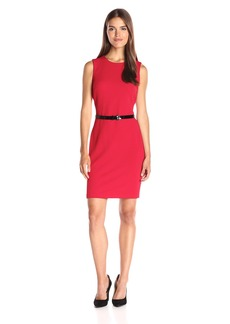 Tommy Hilfiger Women's Sleeveless Saville Knit Sheath Dress