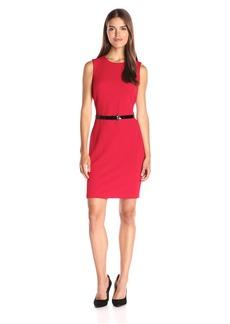 Tommy Hilfiger Women's Sleeveless Saville Knit Sheath Dress