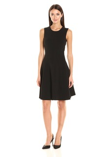 Tommy Hilfiger Women's Sleeveless Solid Scuba Crepe Dress