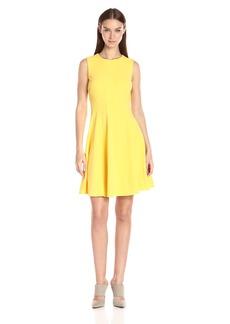 Tommy Hilfiger Women's Sleeveless Solid Scuba Crepe Dress