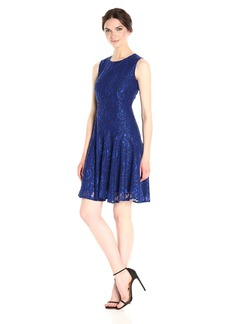 Tommy Hilfiger Women's Sleevless Paisley Lace Dress