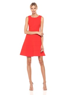 Tommy Hilfiger Women's Sleevless Scuba Crepe Dress