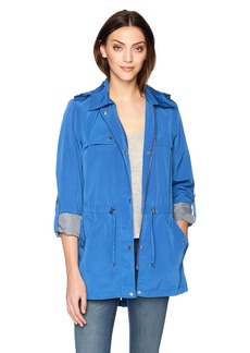 Tommy Hilfiger Women's Snap Front Hooded Rain Anorak  XL