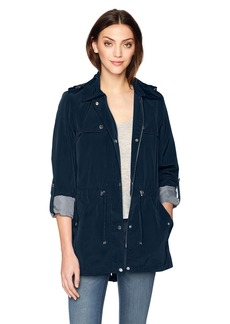 Tommy Hilfiger Women's Snap Front Hooded Rain Anorak  XS