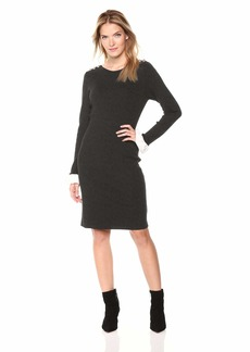 Tommy Hilfiger Women's Solid Peplum Sleeve Sweater Dress