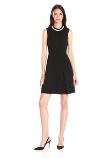 Tommy Hilfiger Women's Sporty Neck Bi-Stretch Fit and Flare Dress