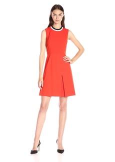 Tommy Hilfiger Women's Sporty Neck Bi-Stretch Fit and Flare Dress