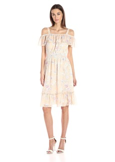Tommy Hilfiger Women's Spring Garden Print Chiffon Dress