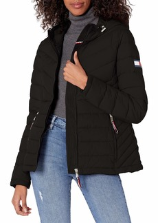 Tommy Hilfiger Women's Stretch Packable Hooded Jacket