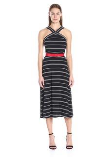 Tommy Hilfiger Women's Stripe Jersey Dress Black/Ivory