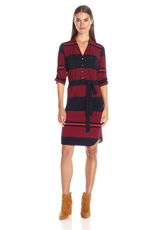 Tommy Hilfiger Women's Stripe Mj Shirt Dress