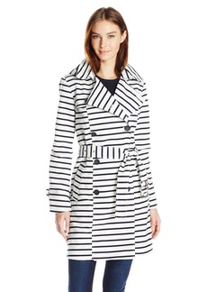 Tommy Hilfiger Women's Striped Trench  M