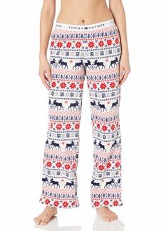Tommy Hilfiger Women's Super Soft Minky Logo Lounge Pajama Pant  L