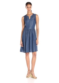 Tommy Hilfiger Women's Tencel Denim Fit and Flare Dress
