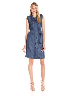 Tommy Hilfiger Women's Tencel Denim Trench Dress