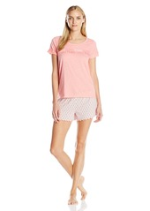 Tommy Hilfiger Women's Th85 Scoop Tee and Lettuce Edge Short