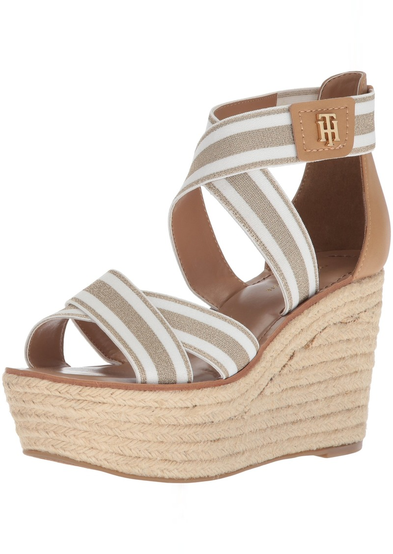 Tommy Hilfiger Women's Theia Espadrille Wedge Sandal  8.5 Regular US