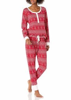 Tommy Hilfiger Women's Thermal Long Sleeve Ski Pajama Set Pj