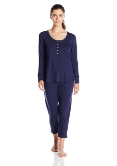 Tommy Hilfiger Women's Top and Pant Bottom Lounge Pajama Set Pj  S