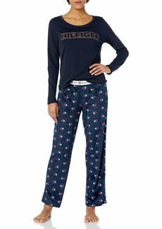 Tommy Hilfiger Women's Top Pant and Short 3 Piece Minky Pajama Lounge Set  M